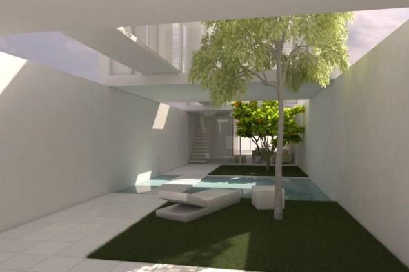 Casa P+P – Cubos sobre muros